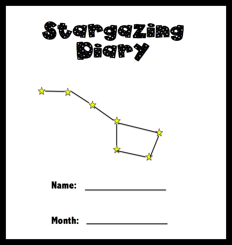 Printables lie back look up help your kids to establish a record of their night sky viewing with this stargazing diary each page includes space for your child to draw what they see publicscrutiny Image collections